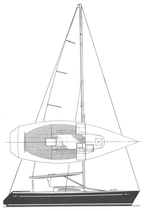 Andrews 30 drawing on sailboatdata.com