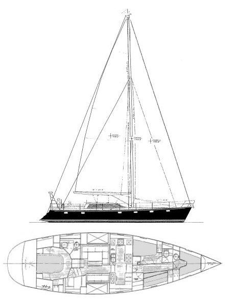 Apogee (Able) drawing on sailboatdata.com