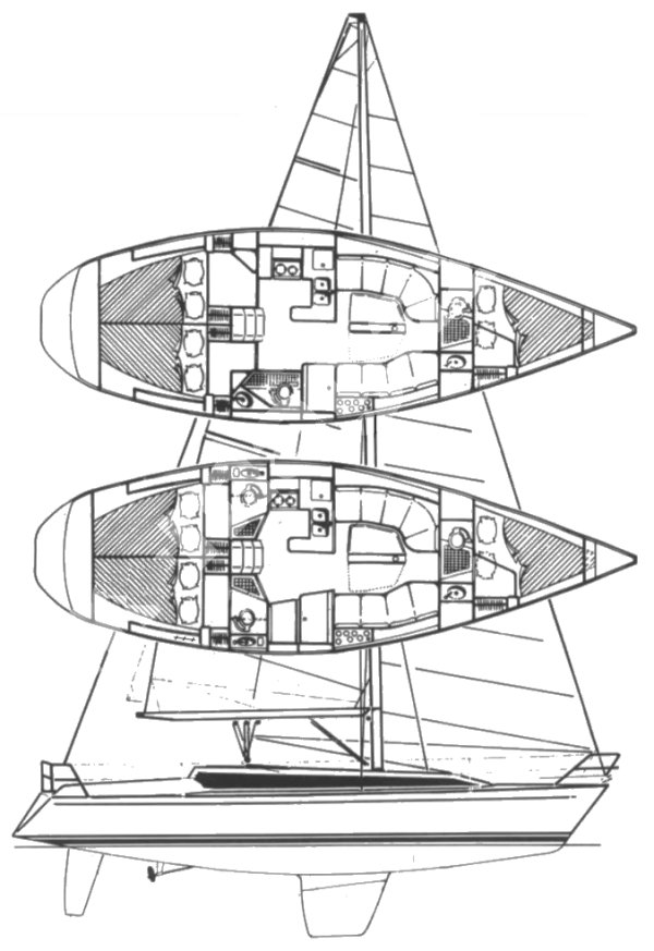 Apollo 12 drawing on sailboatdata.com