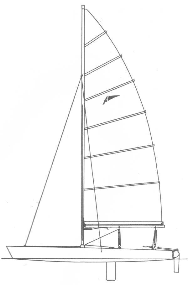 Apollo 18 drawing on sailboatdata.com