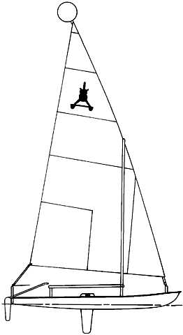 Aqua Cat 12.5 drawing on sailboatdata.com
