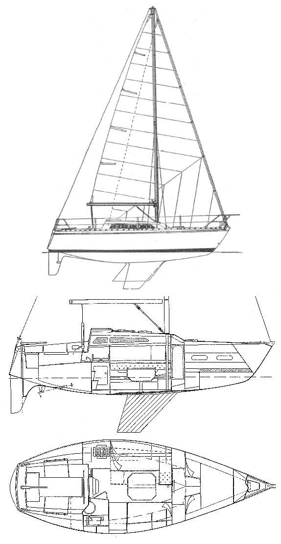 AQUILA 27 (JEANNEAU) drawing
