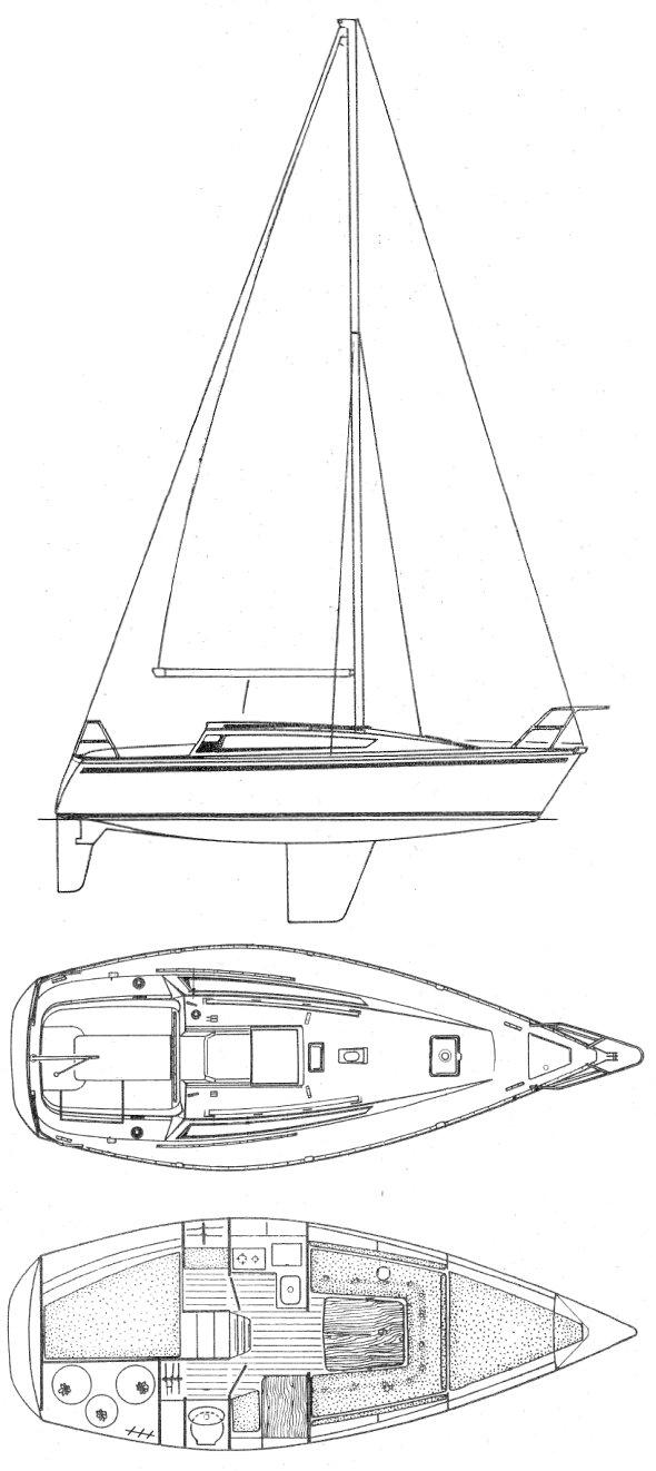ARCADIA 30 (JEANNEAU) drawing