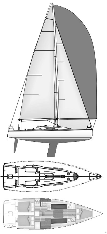 Archambault 40rc drawing on sailboatdata.com