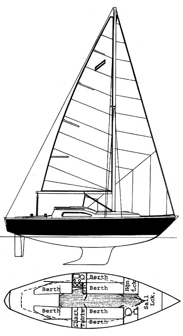 ARPEGE 30 (DUFOUR) drawing