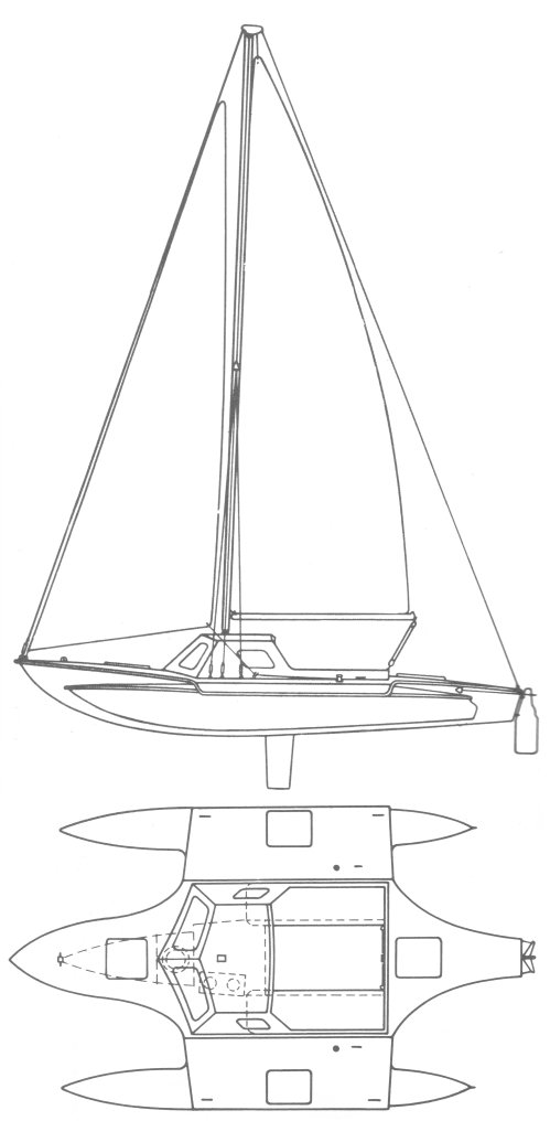 Arrowhead 24 drawing on sailboatdata.com