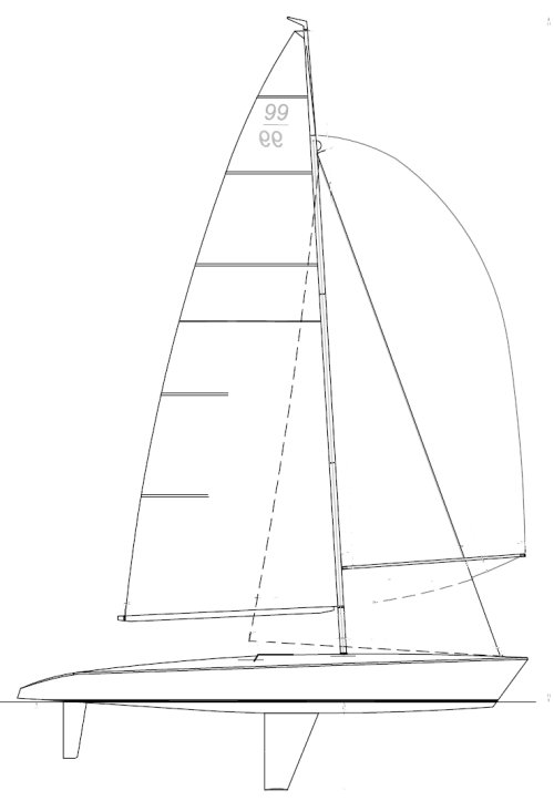 Asso 99 drawing on sailboatdata.com