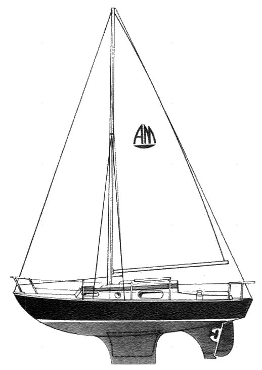 Atlanta 28 drawing on sailboatdata.com