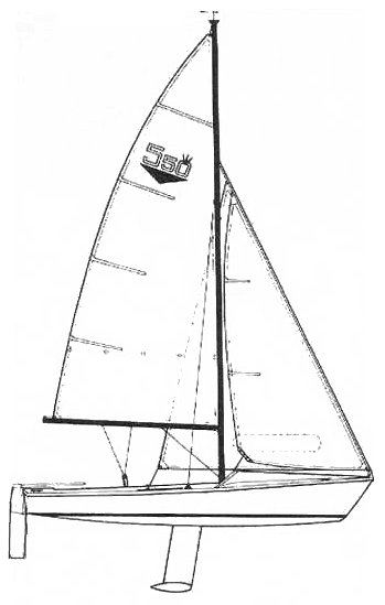 Atlanta 550er drawing on sailboatdata.com