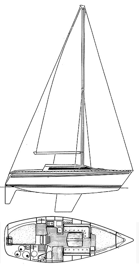 ATTALIA 32 (JEANNEAU) drawing