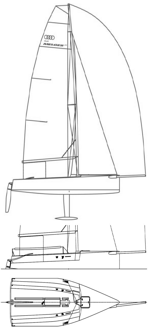 MELGES  20 drawing