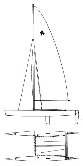 AUSTRALIS CATAMARAN drawing