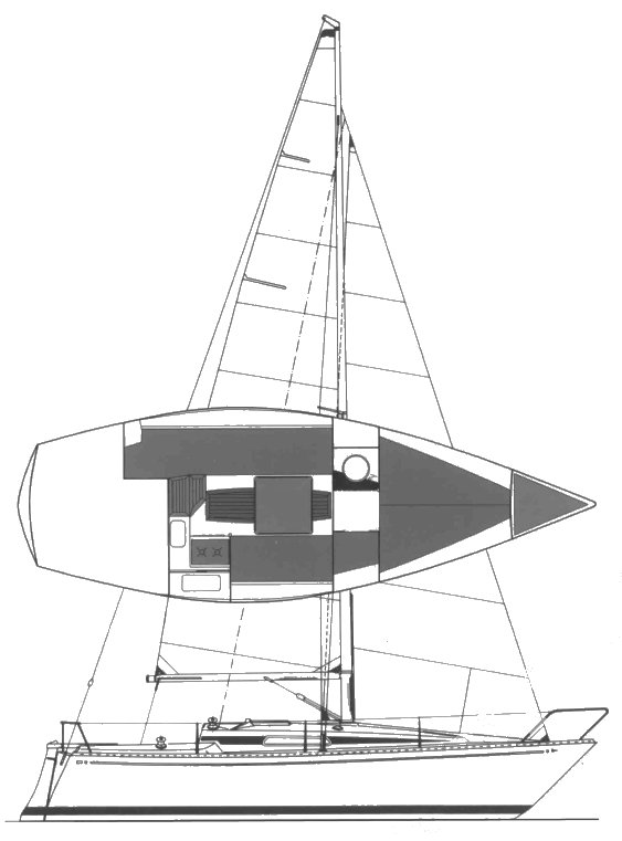 Avance 245 drawing on sailboatdata.com