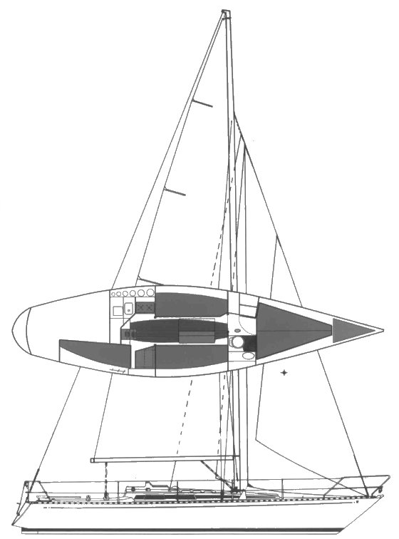 Avance 33 drawing on sailboatdata.com