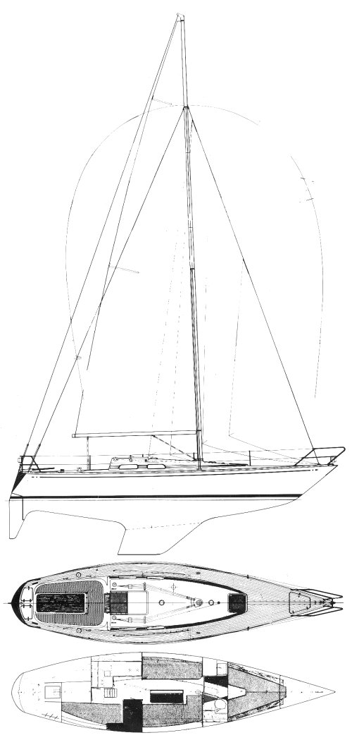 Avance 36 drawing on sailboatdata.com
