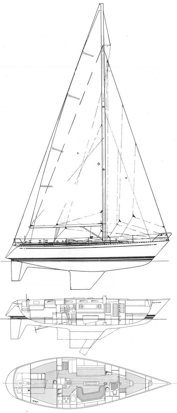 Avance 40 drawing on sailboatdata.com