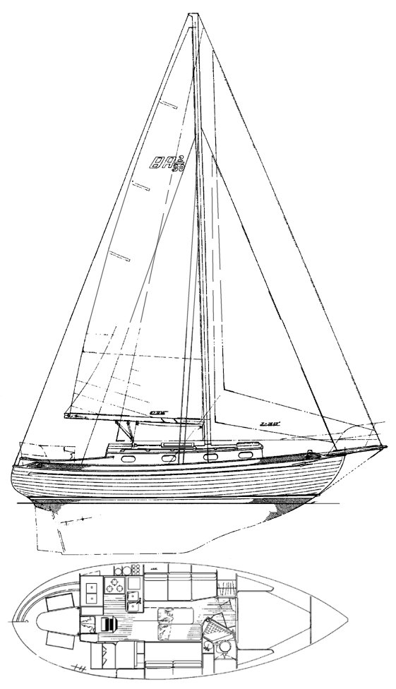 Baba 30 drawing on sailboatdata.com