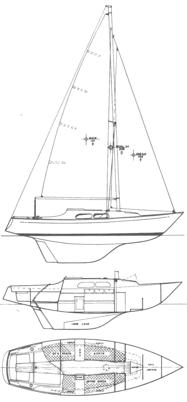 BAHAMA 25 (CAPE FOULWEATHER) drawing