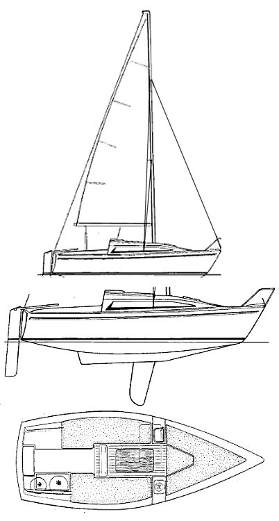BAHIA 22 (JEANNEAU) drawing