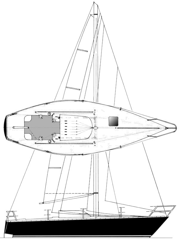 BALANZONE (1/2 TON) sailboat specifications and details on