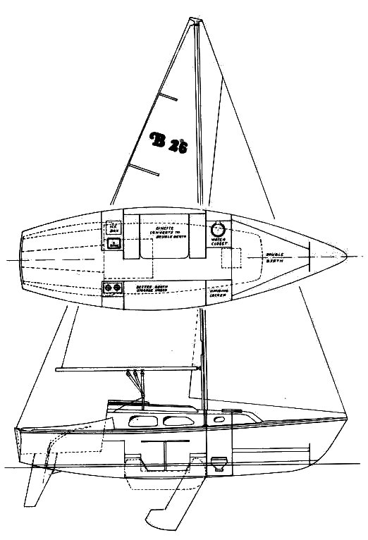 Balboa 26 drawing on sailboatdata.com