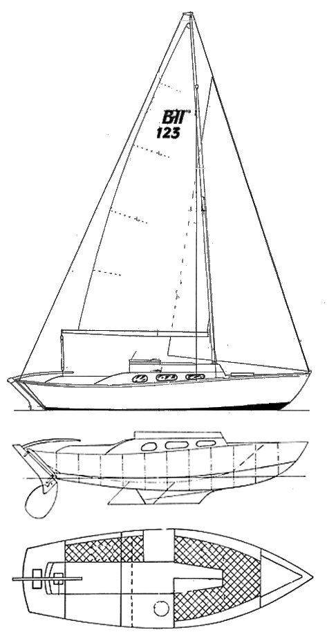 Ballerina II drawing on sailboatdata.com