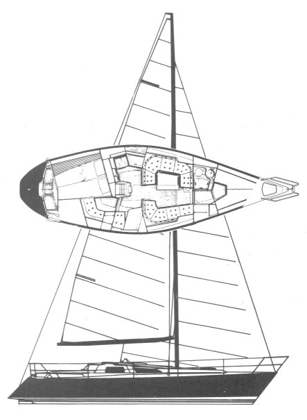 Baltic 35 drawing on sailboatdata.com