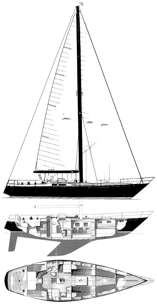 Baltic 46 drawing on sailboatdata.com