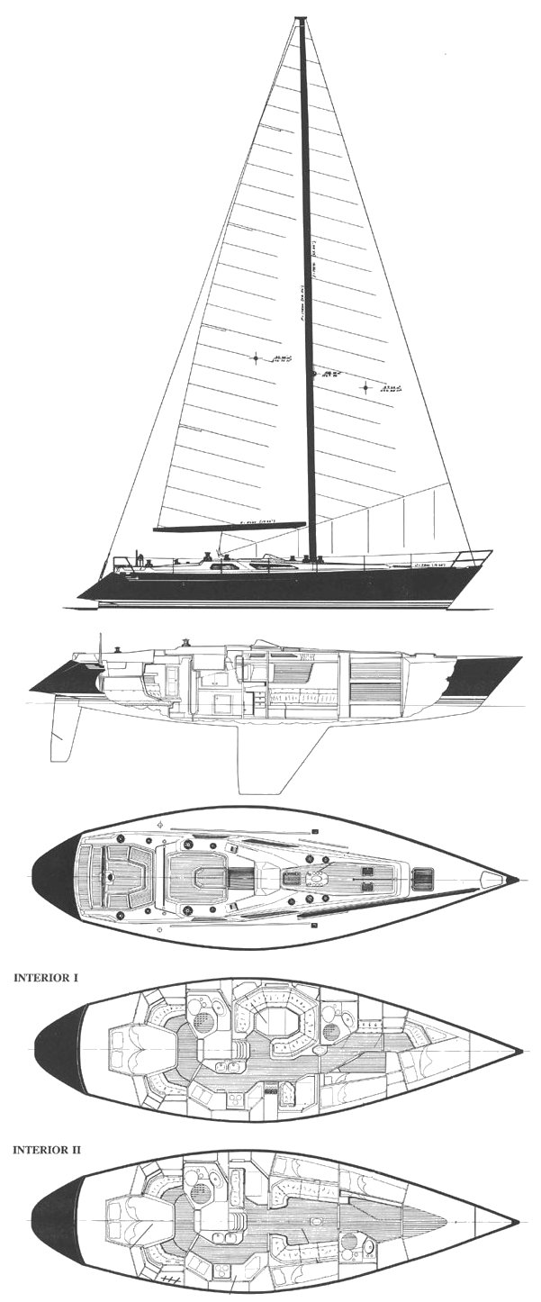 Baltic 48DP drawing on sailboatdata.com
