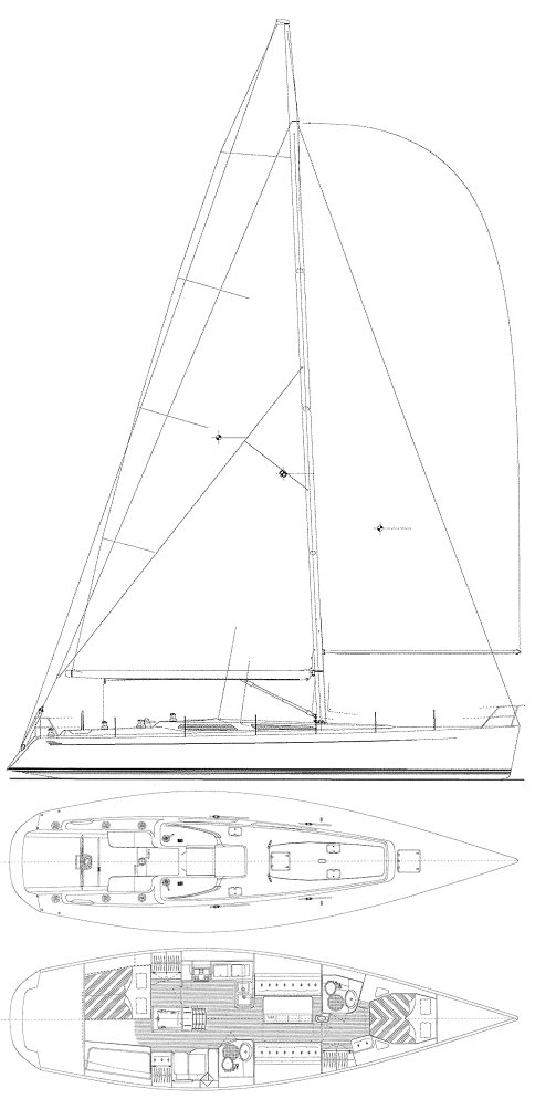 Baltic 50 drawing on sailboatdata.com