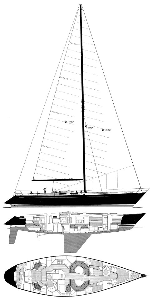 BALTIC 55 DP sailboat specifications and details on