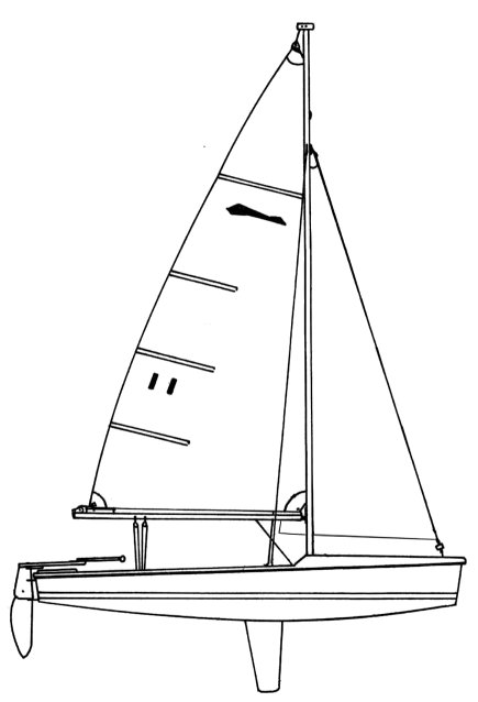 Bandit 15 drawing on sailboatdata.com