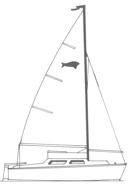 Barbel 14 drawing on sailboatdata.com