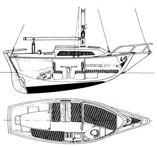 BAROUDEUR (BENETEAU) drawing
