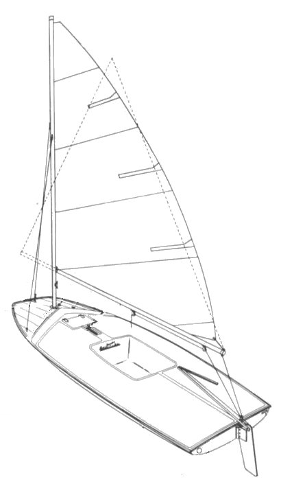 Barracuda 13 (Chrysler) drawing on sailboatdata.com