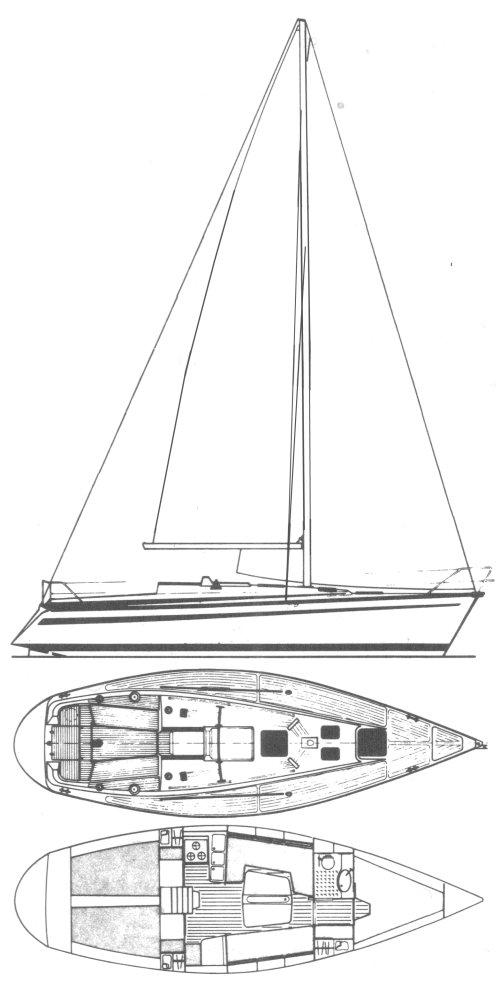 BAVARIA 1060 drawing