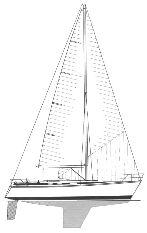 Bavaria 1130 drawing on sailboatdata.com