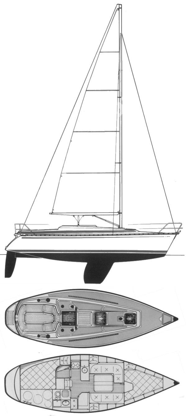 BAVARIA 320 drawing