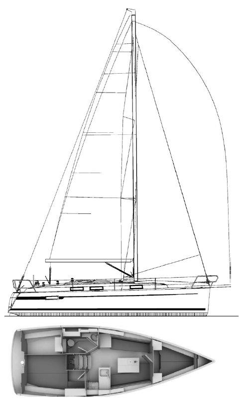 BAVARIA CRUISER 33 drawing