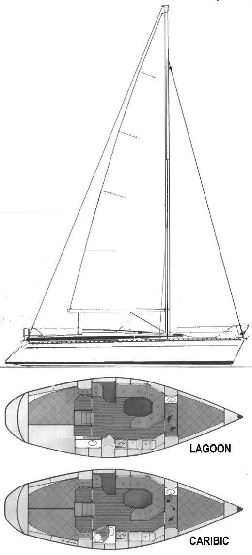 BAVARIA 340 drawing