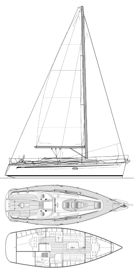 BAVARIA CRUISER 34 drawing
