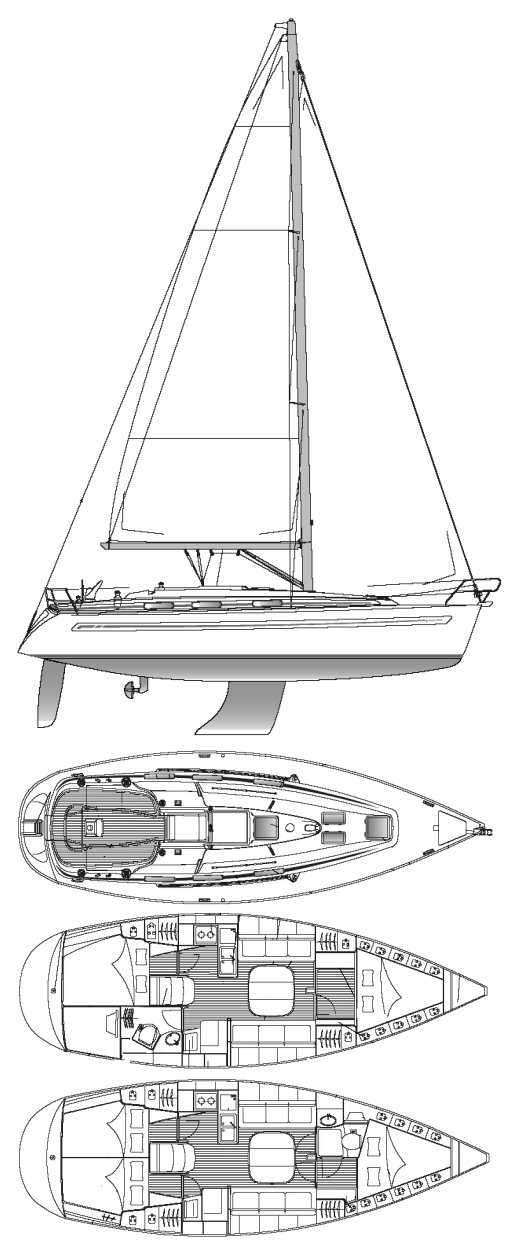 BAVARIA 36 drawing