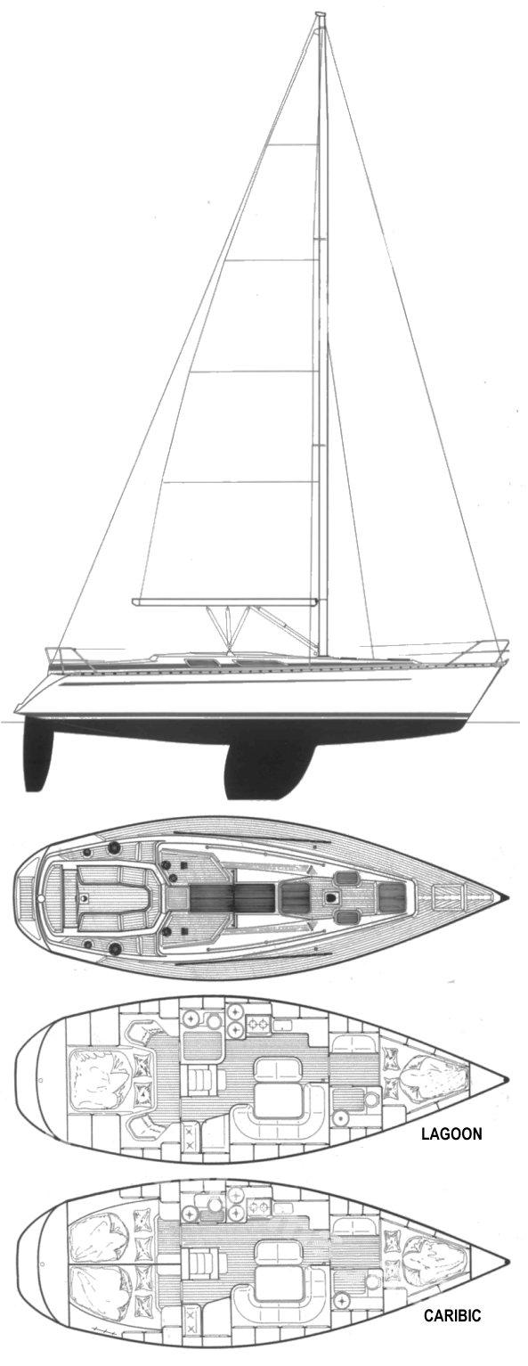 BAVARIA 370 drawing