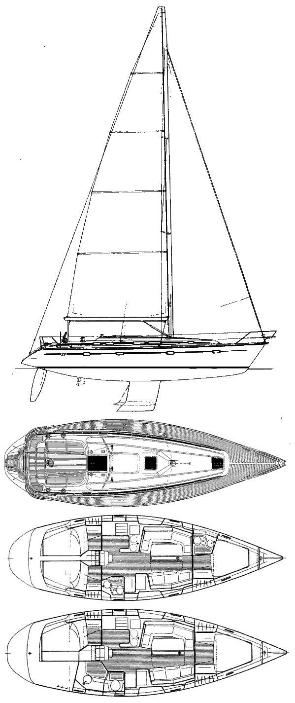 BAVARIA 39 drawing