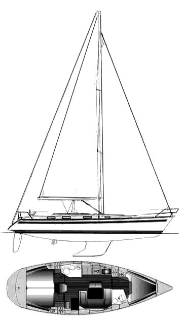 Bavaria 41 drawing on sailboatdata.com