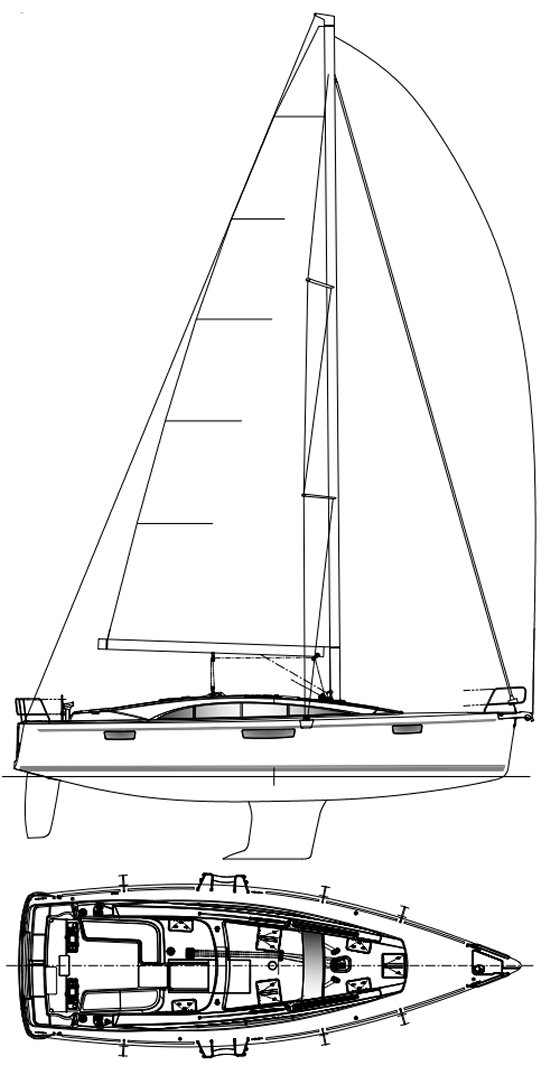 BAVARIA VISION 42 drawing