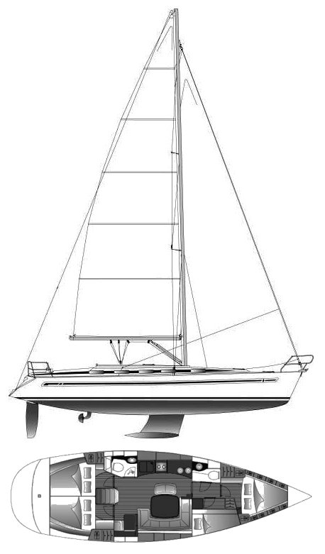 BAVARIA 44 drawing