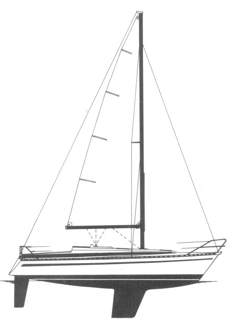 Bavaria 960 drawing on sailboatdata.com