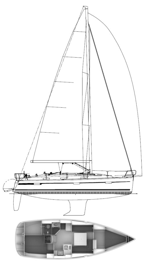 BAVARIA CRUISER 36 (FARR) drawing