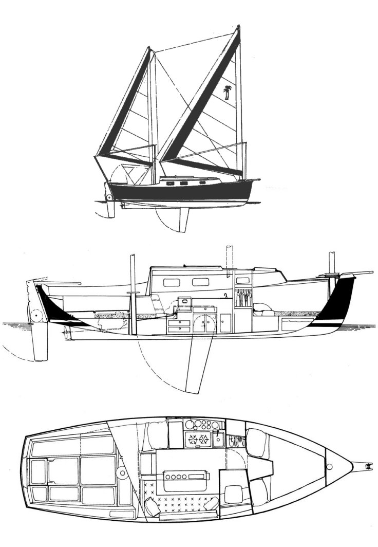 Beachcomber 25 drawing on sailboatdata.com